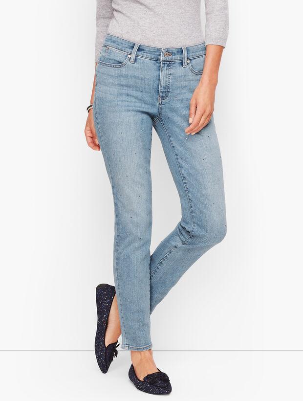 Slim Ankle Jeans - Diamond Dot