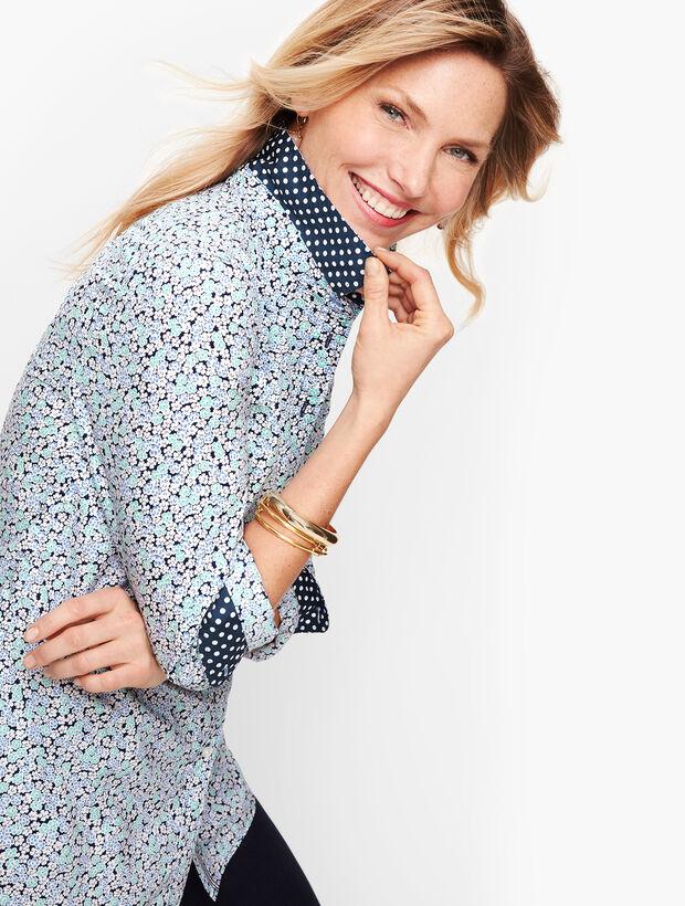 Classic Cotton Shirt - Geranium Floral