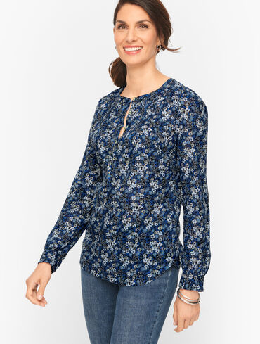Pintuck Popover - Cute Floral