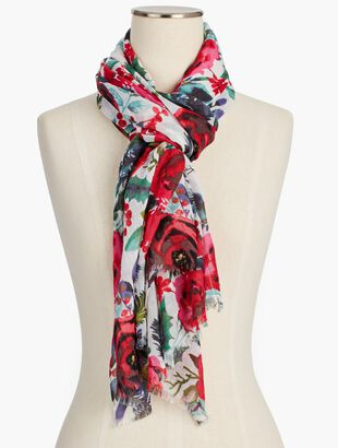 Holiday Floral Scarf