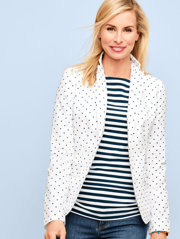 Ruched-Sides Tee-Island Stripes