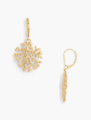 Coral Reef Drop Earrings
