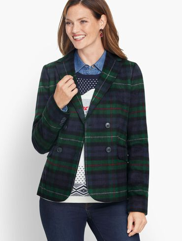 Brushed Wool Double Breasted Blazer