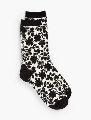 Black Rose Trouser Socks