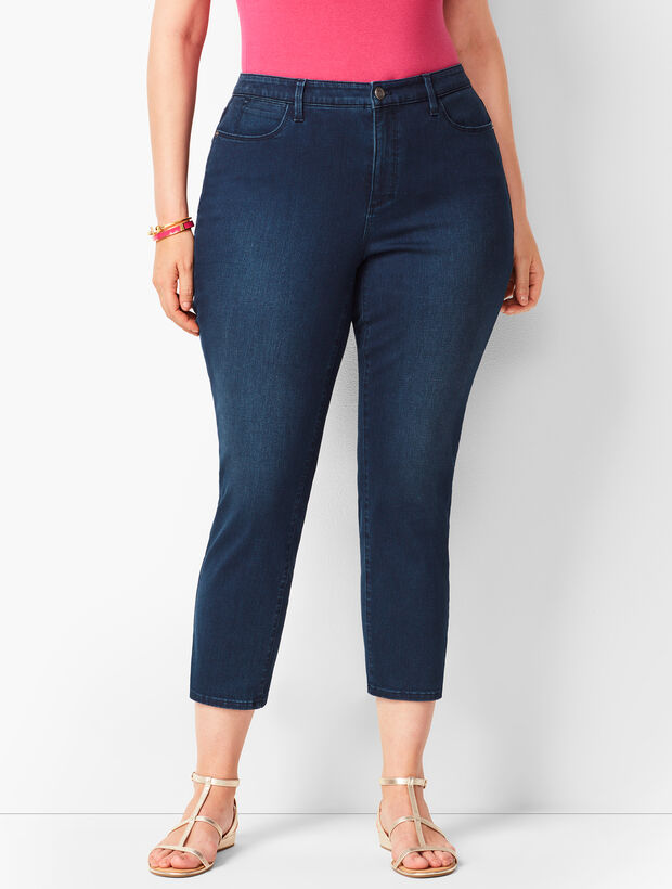 Plus Size Denim Jegging Crops - Atmosphere Wash - Curvy Fit