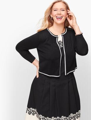 Plus Size Tipped Dress Shrug
