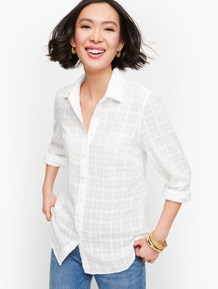 Classic Cotton Shirt - Textured Plaid