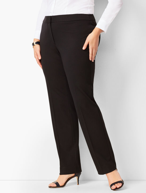 Italian Luxe Knit Straight-Leg Pants