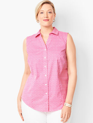 Sleeveless Perfect Shirt - Pinwheel