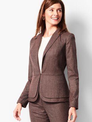 Italian Luxe Tweed Peplum Blazer