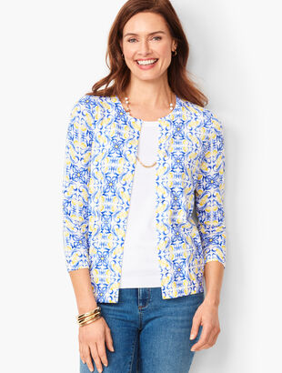 9ef4e03eea5 Charming Cardigan - Flower & Lemon Print