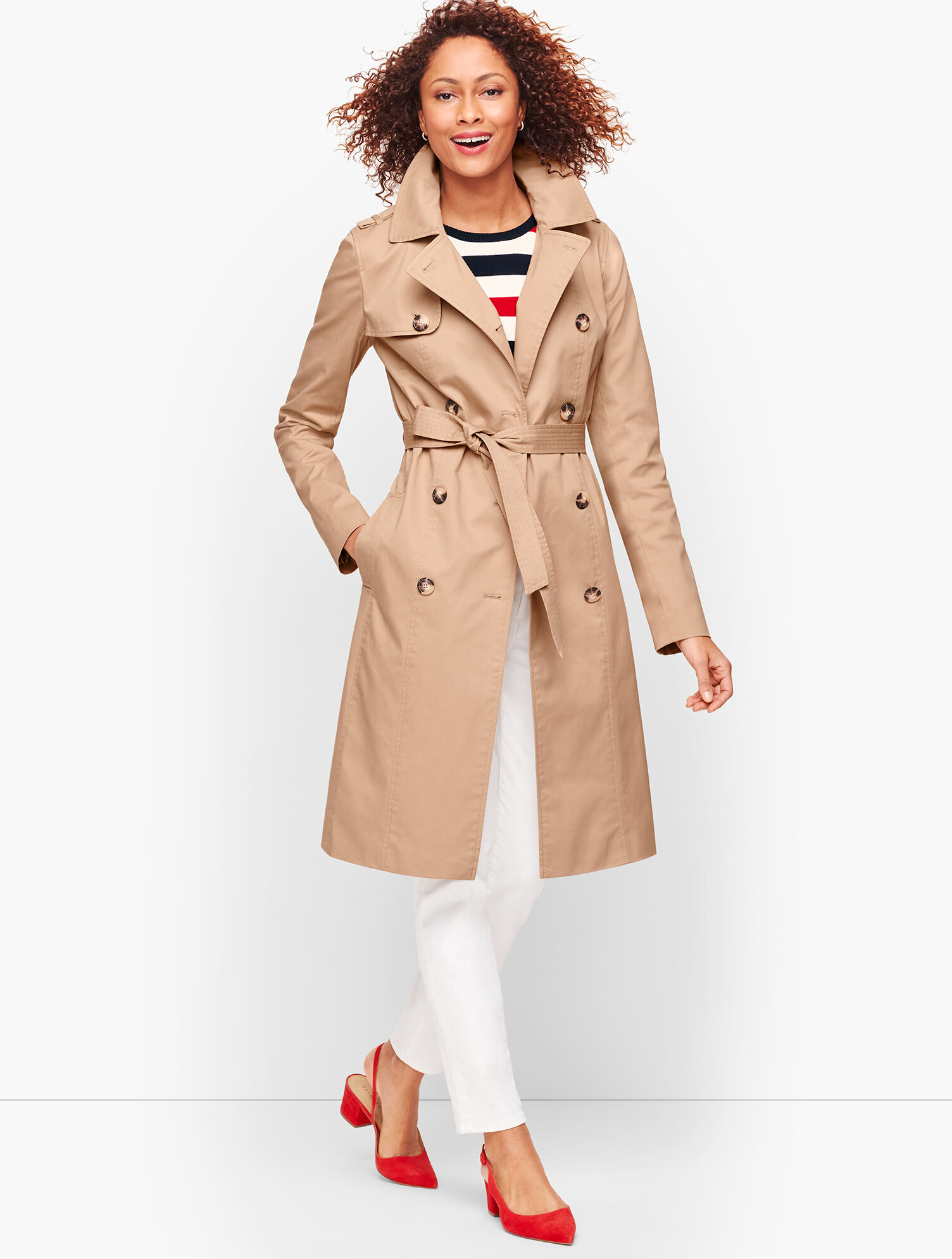 Double Breasted Trench Coat | Talbots