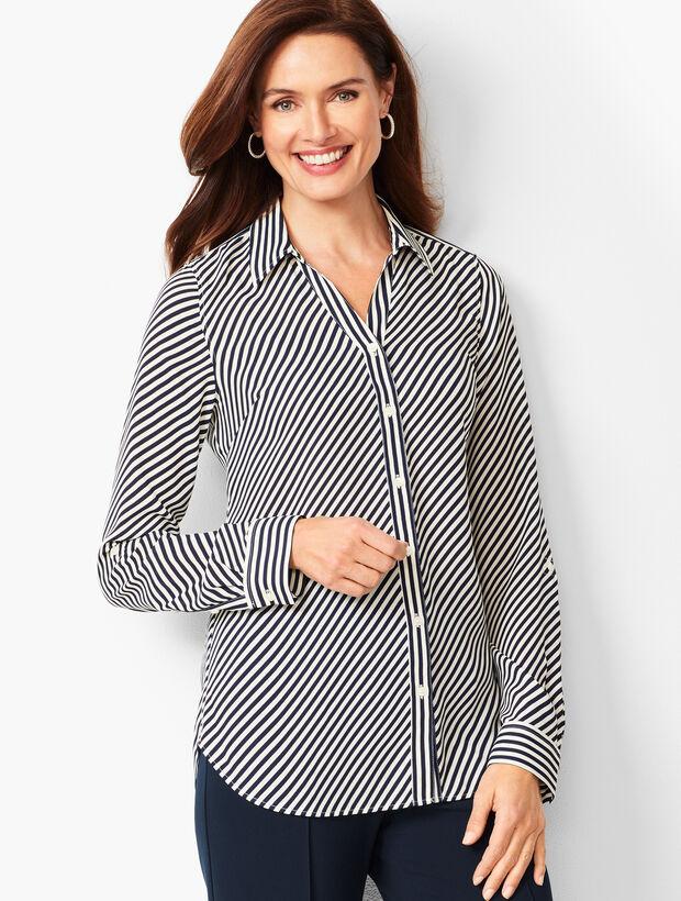 Soft Cutaway Blouse - Stripe