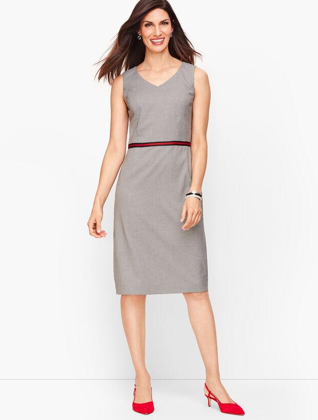 Square Houndstooth Sheath Dress