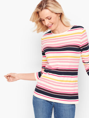Long Sleeve Crewneck Tee - Sullivan Stripe