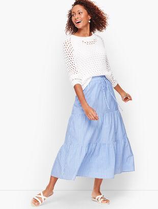 Tiered Maxi Skirt - Stripe