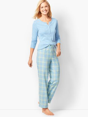 Pajama Set - Glen-Plaid Flannel