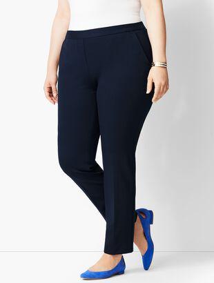 Refined Ponte Pull-On Slim-Leg Pant