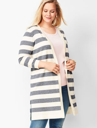 Marled-Stripe Pima Cotton Duster