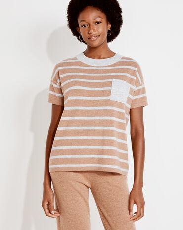 Pure Cashmere Striped Tee