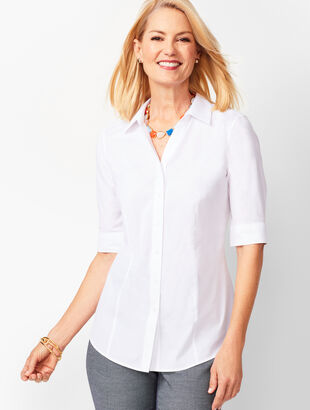 Perfect Shirt - Elbow-Length Sleeves - Solid
