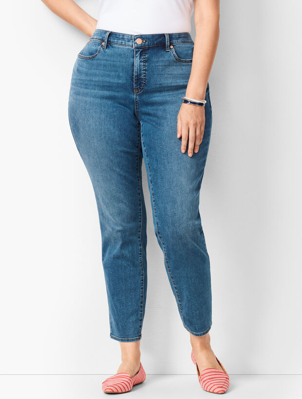 18b716ae353 Plus Size Slim Ankle Jeans - Curvy Fit - Equinox Wash