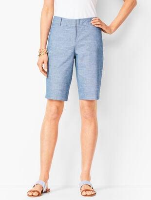 Perfect Shorts - Bermuda Length - Chambray