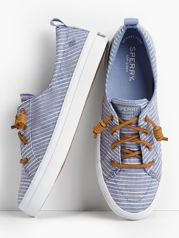 Sperry(R) Crest Vibe Sneakers - Chambray Stripe