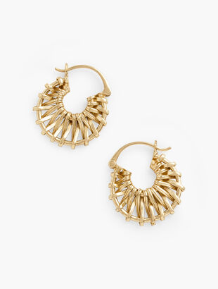 Reed Texture Hoop Earrings