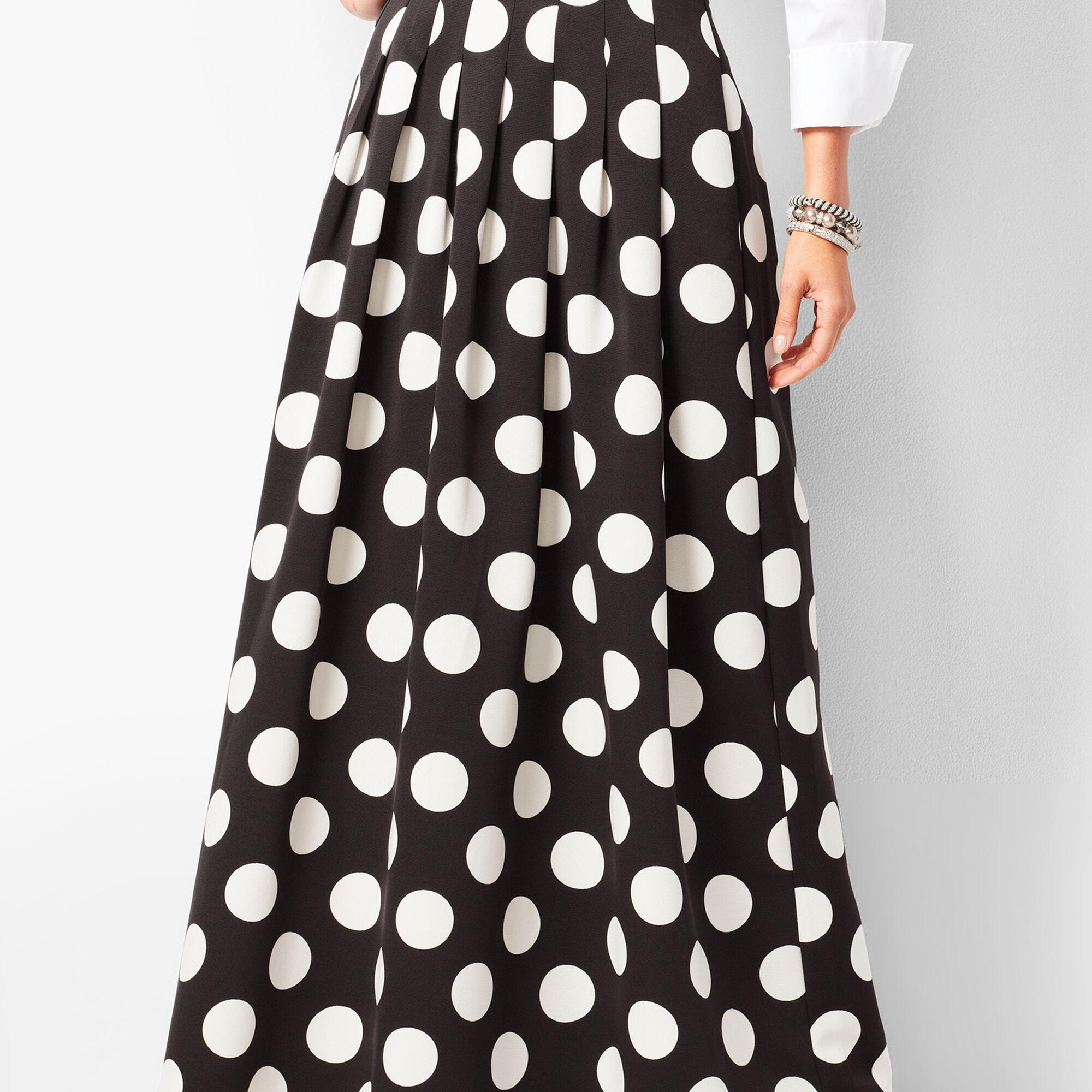 b11aa6dca Pleated Dot Maxi Skirt   Talbots