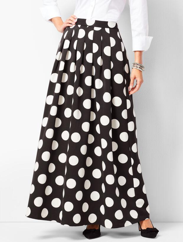 fa9d069dfae4 Pleated Dot Maxi Skirt   Talbots
