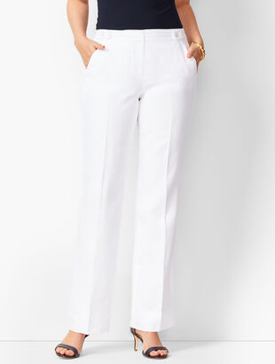 Talbots Windsor Linen Wide-Leg Pants - Curvy Fit/Lined