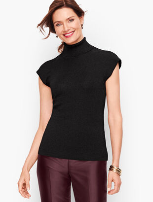 Cap Sleeve Turtleneck Shell