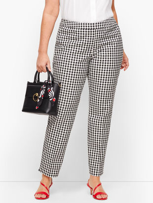 Plus Size Talbots Hampshire Ankle Pants - Gingham