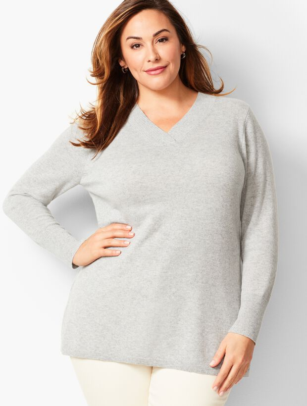 Ribknit Trim V-Neck Tunic