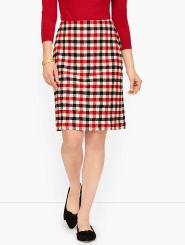 Festive Check Skirt