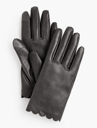 Scallop Leather Touch Glove