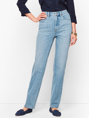 Relaxed Straight Leg Jeans - Neptune Wash