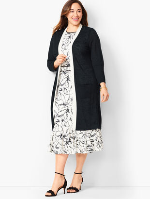 Tipped Linen Duster