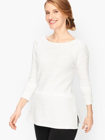 Textured Criss- Cross Sweatshirt