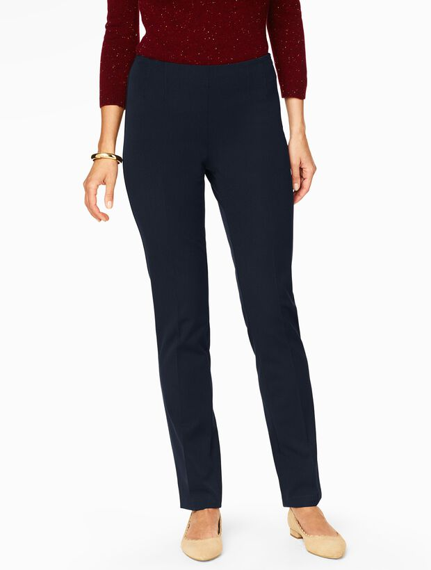 Refined Bi-Stretch Side-Zip Straight Leg Pant - Curvy Fit