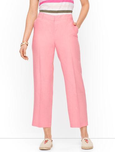 Linen Straight Leg Crops - Curvy Fit