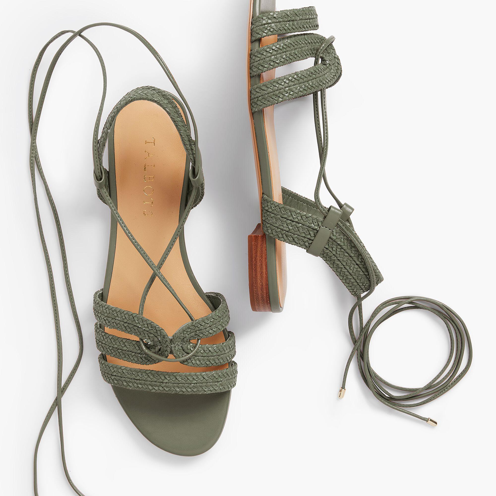 bd2557af4b6d Keri Braided Lace-Up Sandals