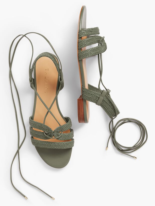 Keri Braided Lace-Up Sandals