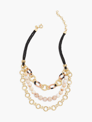 Blush Tortoise Links Necklace