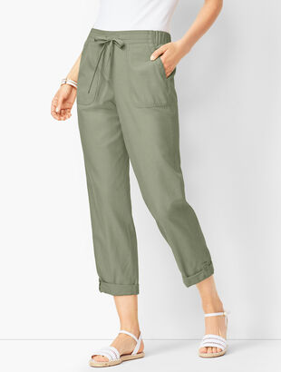 Drawstring Cuffed Pants