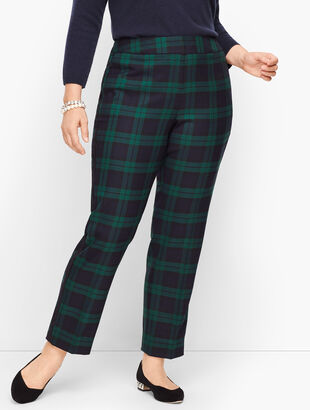 Plus Size Talbots Hampshire Ankle Pants - Black Watch Plaid