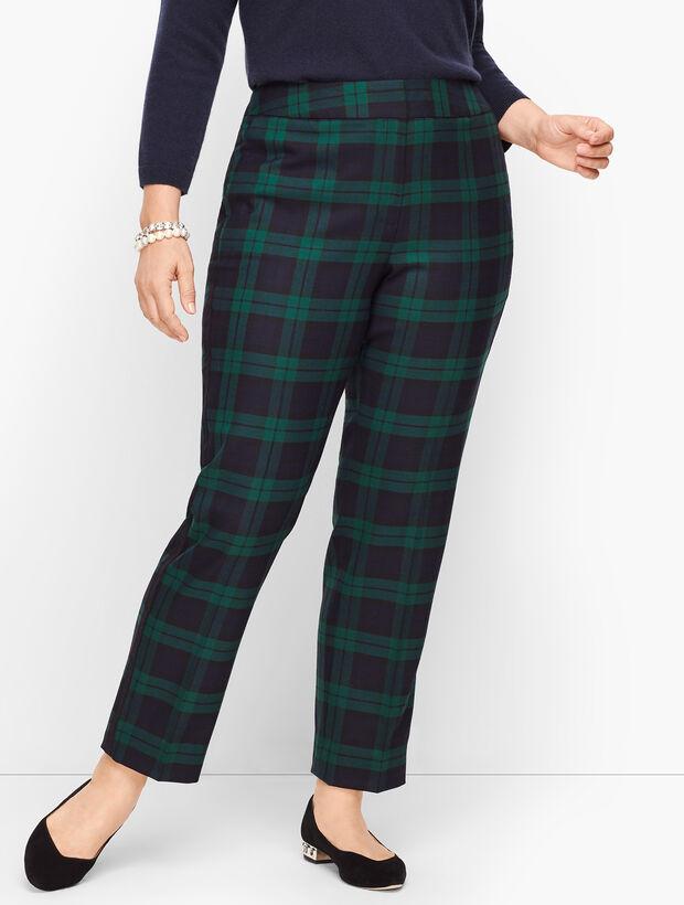 Plus Size Talbots Hampshire Ankle Pants - Black Watch Plaid