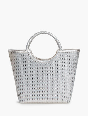 2d08b844645a Woven Leather Tote