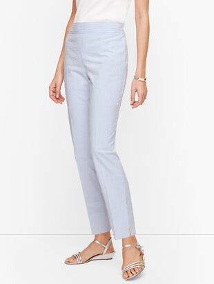 Seersucker Slim Ankle Pants